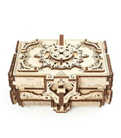 Ugears ユーギアーズ アンティークボックス 70089 Antique Box 木製 ブロック DIY パズル 組立 想像力 創造力 おもちゃ 知育 ウッドパズル 3D 工作キット 木製 模型 キット つくるんです