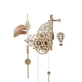 Ugears ユーギアーズ エアロクロック 70154 掛け時計 木製 ブロック DIY パズル 組立 想像力 創造力 おもちゃ 知育 ウッドパズル 3D 工作キット 木製 模型 キット つくるんです
