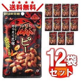 UHA味覚糖 麻ピー 12袋セット 送料無料