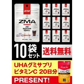 UHA味覚糖 DNSグミ ZMA コーラ味 1日分×10袋セット(もれなくUHAグミサプリプレゼント!)