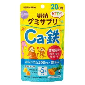UHA味覚糖 グミサプリKIDS カルシウム・鉄 20日分