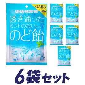 UHA味覚糖 透き通ったミントのおいしいのど飴(92g)6袋
