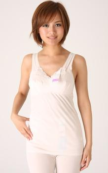 さらり・さわやかアサメリー綿100%ラン型ブラキャミソールB75〜B85