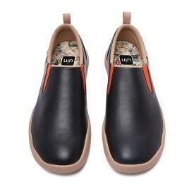 【送料無料】Cuenca Leather-UIN 厚底 メンズデッキシューズ ワークシューズ 本革 革靴 3色選択 カジュアルシューズ ウオーキング レザー ローファー ビジネス用 通勤 通学 おしゃれ 男女兼用