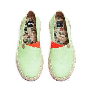 【送料無料】Marbella Pastel Green-UIN アートシューズ レディースナチュラルジュートローファー ファッションスニーカ メンズデッキシューズ 衝撃吸収旅靴 軽い カップル靴 プレゼント 人気