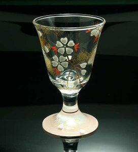 京焼き絵付け 冷酒グラス ギフト 桃桜
