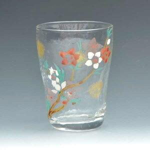 京焼き絵付け タンブラー ギフト 桃の花
