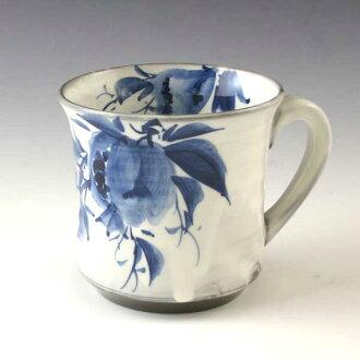 京都清水烧陶杯与石榴 § 清水烧京都陶瓷礼物时尚杯茶杯宇治茶