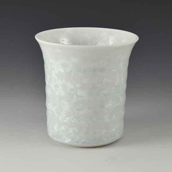 京焼 清水焼 京 焼き 京焼き 酒器 焼酎杯 1客 紙箱入り 花結晶(白) はなけっしょう(しろ)