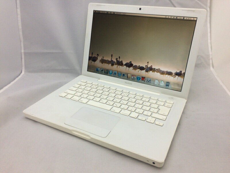 【中古】[ Apple ] MacBook 4.1 白 / Intel Core 2 Duo 2.4GHz / MB403J/A / SuperDrive / OS X 10.7 インストール / クリック固い、バッテリNG