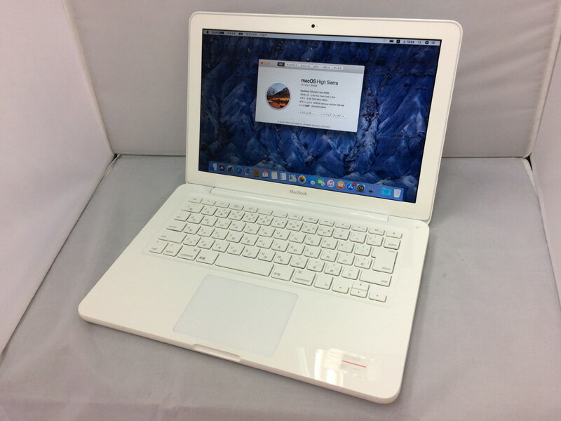 【中古】[ Apple ] MacBook 7.1/ Intel Core 2 Duo 2.4GHz / 13.3インチ / SuperDrive / MC516J/A / OS X 10.13インストール済み