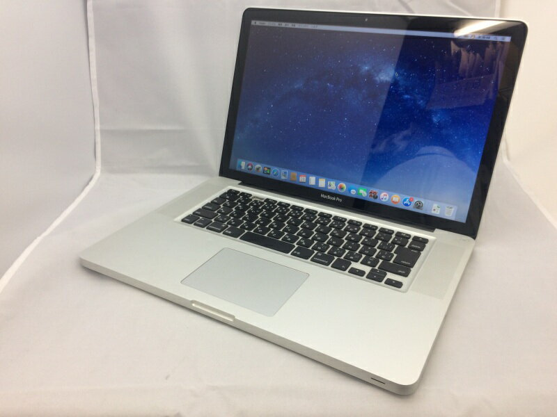 【中古】[ Apple ] MacBook Pro 8.2 / Intel Core i7 2GHz / 15.4インチ / Mac OS 10.13.1 インストール / バッテリ欠損 mc721J/A