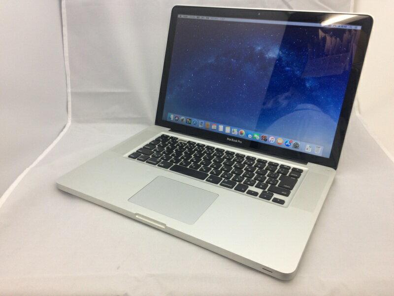 【中古】[ Apple ] MacBook Pro 8.2 / Intel Core i7 2GHz / 15.4インチ / Mac OS 10.13.1 インストール / バッテリ欠損 mc721J/A