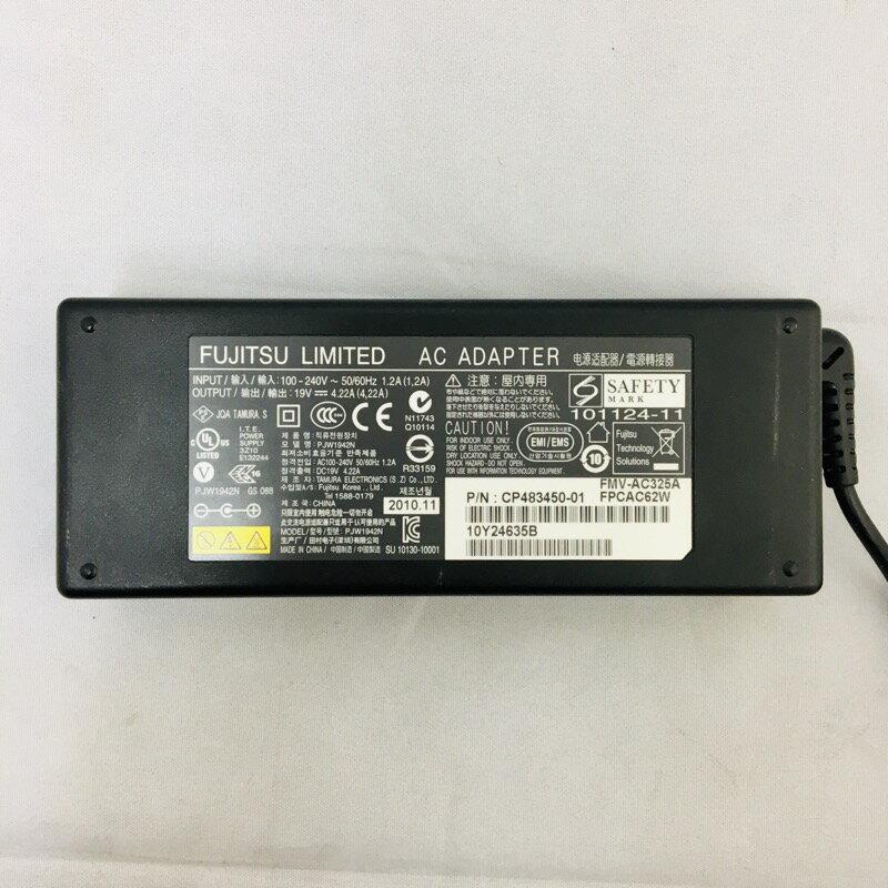 【中古】[ Fujitsu ] ACアダプタ / FMV-AC(314、322) / 19V / 4.22A / 電源 adapter / ADP-80NB A / SED100P2-19.0 / PJW1942N /