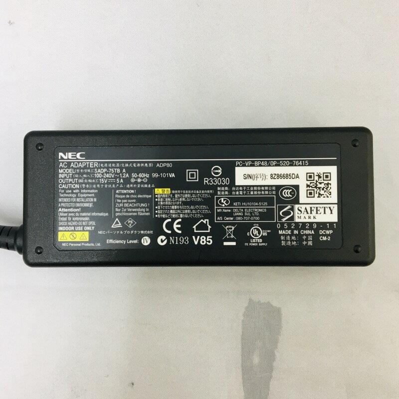 【中古】[ NEC ] ADP80 AC-VP-BP48 SADP-75TB / 15V-5A ACアダプタ ADP80