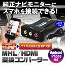 HDMI/MHL 変換 コンバーター ホンダ インターナビ Honda internavi 純正ナビ モニター RCA AV スマートフォン iPhone アン...
