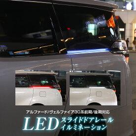 【3%OFFクーポン発行中】LED イルミネーション LEDライト スライドドアレールイルミ アルファード ヴェルファイア 30系 前期 後期 専用設計 LEDライト スモールランプ連動 車幅灯 ウインカー連動 シーケンシャル 点灯