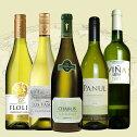 ワインセットうきうき厳選世界の白ワインが味わえる極上辛口白ワインスペシャル飲み比べ5本セット(送料無料ワインセット)