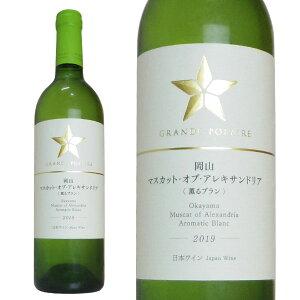 グランポレール 岡山マスカット・オブ・アレキサンドリア(薫るブラン) 2019年 750ml (日本 白ワイン 日本ワイン)