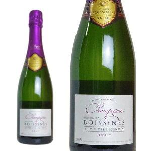シャンパン オリヴィエ・ド・ボアシーン キュヴェ・デ・レジェンド ブリュット ボジェ・ジュエット 750ml 正規 (フランス シャンパーニュ 白 箱なし)