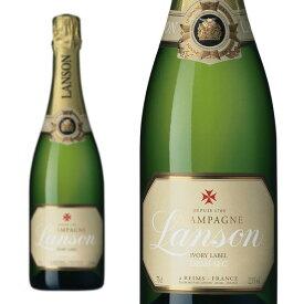 シャンパン ランソン アイボリーラベル ドゥミセック 正規 750ml (フランス シャンパーニュ 白 箱なし)