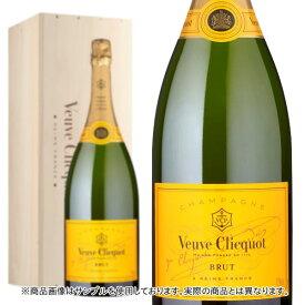 シャンパン ヴーヴ・クリコ イエローラベル ブリュット ダブルマグナムサイズ 3000ml 木箱入り 正規 (フランス シャンパーニュ 白)