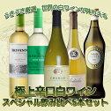 うきうき厳選 世界の白ワインが味わえる 極上辛口白ワイン スペシャル飲み比べ5本セット (送料無料ワインセット)