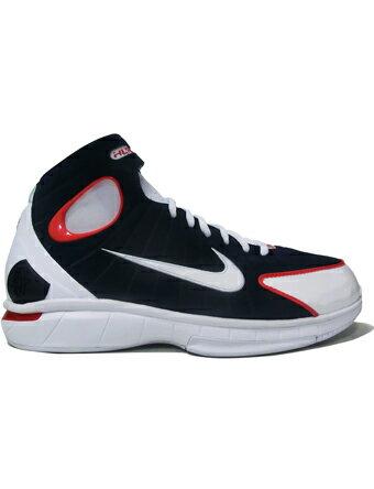 """バスケットシューズ バッシュ ナイキ Nike Air Zoom Huarache 2K4 """"USA"""" M.Nvy/U.Red/Wht"""