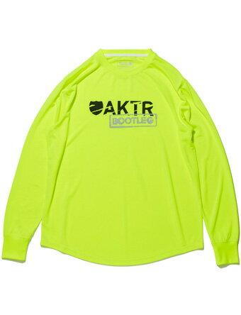 バスケットロング Tシャツ ウェア アクター AKTR BOOTLEG LOGO L/S SPORTS TEE YELLOW 【MEN'S】