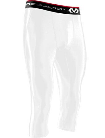 バスケットサポーター インナー 機能性タイツ マクダビッド McDavid 3/4 Length Tights Wht ランニング トレーニング