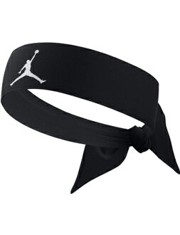籃球配飾喬丹耐吉Jordan Head Tie AJ Jumpman D/F Blk