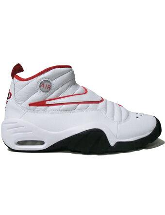 バスケットシューズ バッシュ スニーカー ナイキ Nike Air Shake Ndestrukt Wht/Blk/Red ストリート
