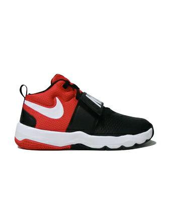 バスケットシューズ ジュニア キッズ バッシュ ナイキ Nike Team Hustle D 8 GS GS Wht/Blk/U.Red 【GS】キッズ