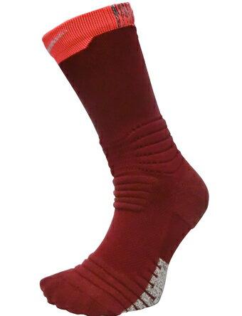 バスケットソックス ウェア クルーソックス ナイキ Nike Socks Grip Versatility Crew Socks Red/Gry