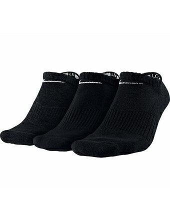 バスケットソックス ウェア ローソックス ナイキ Nike Cotton Cushion No Show 3P Blk ランニング トレーニング ストリート