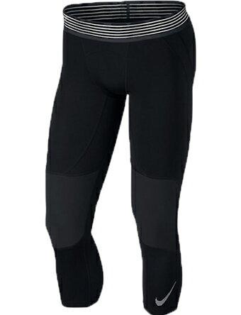 バスケットサポーター インナー 機能性タイツ ナイキ Nike Nike Pro Basketball 3/4 Tights Blk/Wht ランニング トレーニング