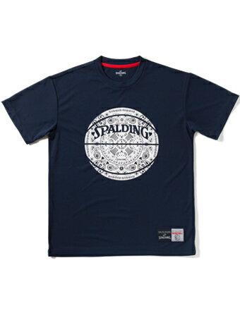 バスケットTシャツ ウェア スポルディング Spalding Tシャツ PAISLEY Nvy 【MEN'S】