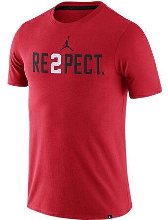 バスケットTシャツ ウェア ジョーダン ナイキ Jordan Jordan Jeter Re2pect Tee U.Red/Blk/Wht ランニング トレーニング ストリート 【MEN'S】