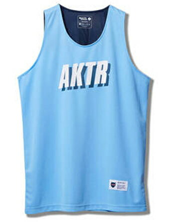 バスケットノースリーブ タンクトップ ウェア アクター AKTR BOOTLEG CITY MESH TANK L.Blu 【MEN'S】