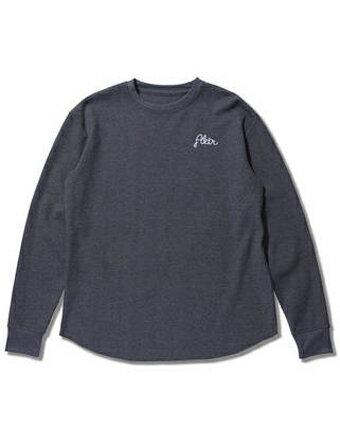 バスケットロング Tシャツ ウェア アクター AKTR LODGE WAFFLE L/S TEE Gry 【MEN'S】