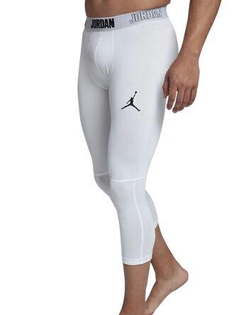 バスケットサポーター インナー 機能性タイツ ジョーダン ナイキ Jordan Jordan 23 Alpha Dry 3/4 Tights Wht/Blk ランニング トレーニング