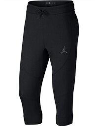 籃球褲子服裝秋天冬季商品喬丹耐吉Jordan JSW Wing Fleece 3/4 Pants Blk跑步訓練街道