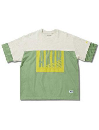 バスケットTシャツ ウェア アクター AKTR MESH CUT SEW Wht/Grn 【MEN'S】