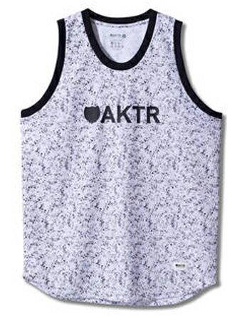 バスケットノースリーブ タンクトップ ウェア アクター AKTR SPLASH18 TANK Wht 【MEN'S】