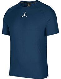 籃球防護帶服裝內部最高層喬丹耐吉Jordan Jordan 23 Alpha Dry Fitted S/S Top C.Nvy/Wht跑步,鍛煉