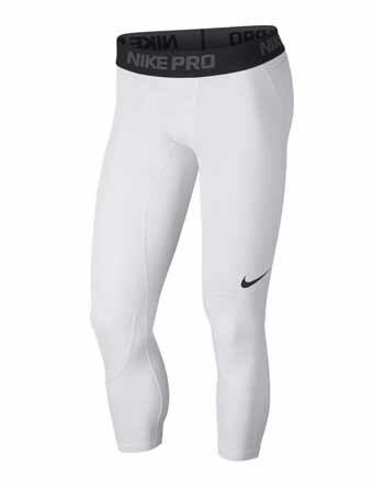 バスケットサポーター インナー 機能性タイツ ナイキ Nike Nike Pro Dri-Fit 3/4 Tight Wht/Blk ランニング トレーニング