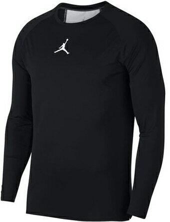 バスケットサポーター インナー トップ ジョーダン ナイキ Jordan 23 Alpha Dry Fitted L/S Top Blk/Wht ランニング トレーニング