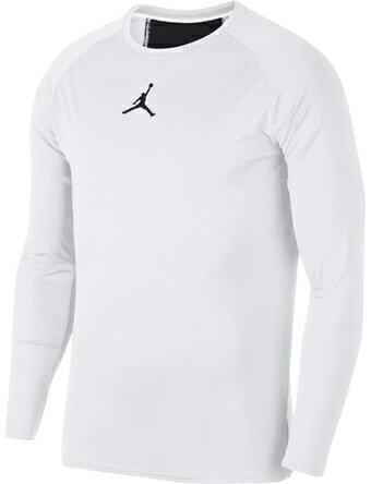 バスケットサポーター インナー トップ ジョーダン ナイキ Jordan 23 Alpha Dry Fitted L/S Top Wht/Blk ランニング トレーニング