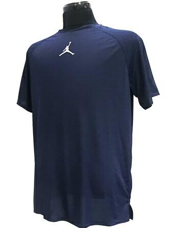 バスケットサポーター インナー トップ ジョーダン ナイキ Jordan 23 Alpha Dry Fitted S/S Top Nvy/Wht ランニング トレーニング