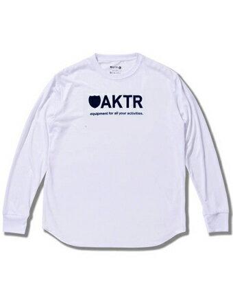 バスケットロング Tシャツ ウェア アクター AKTR BASIC LOGO L/S TEE Wht/Blk 【MEN'S】